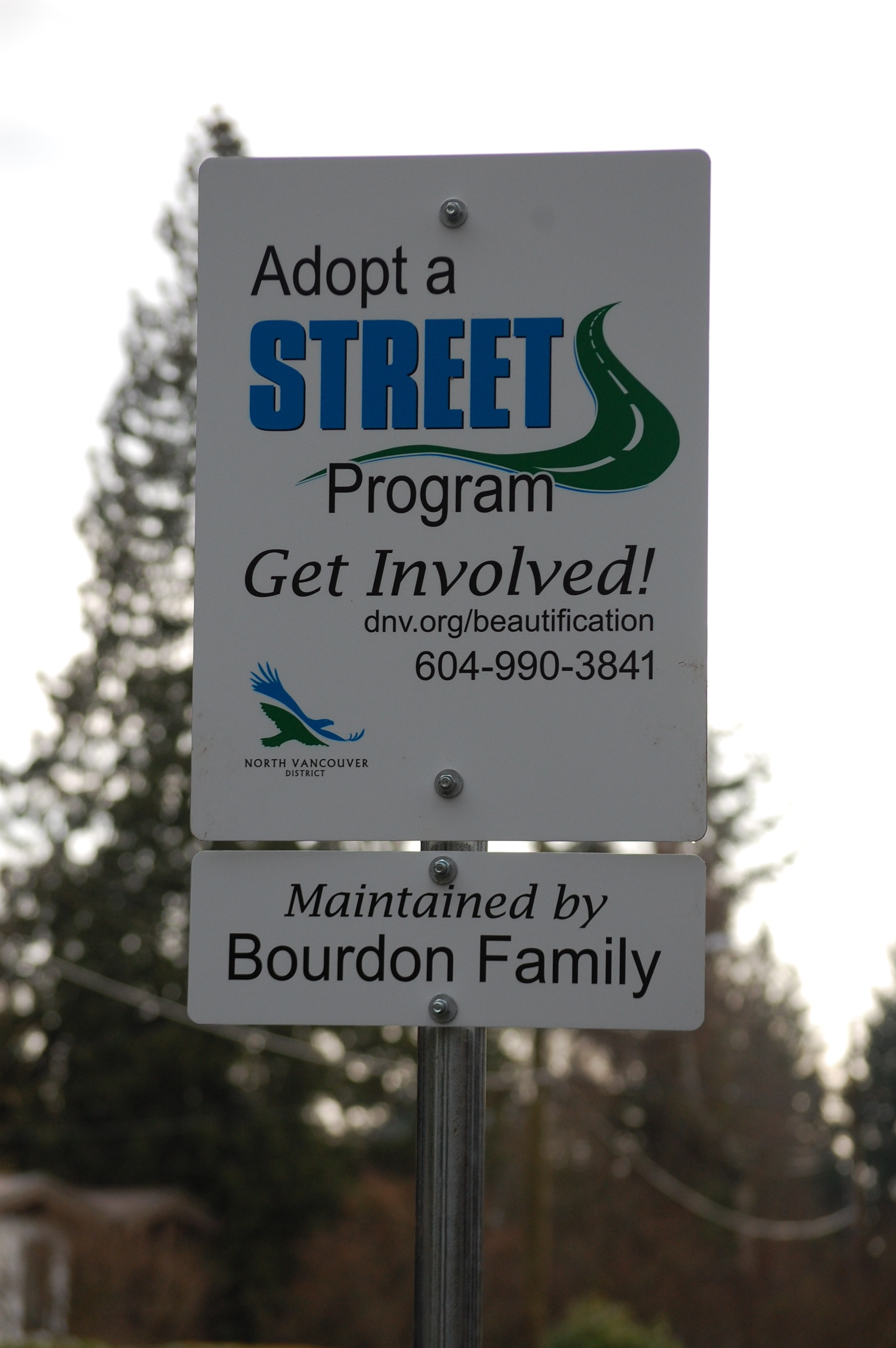 """Adopt a street"" spotted in Blueridge!"