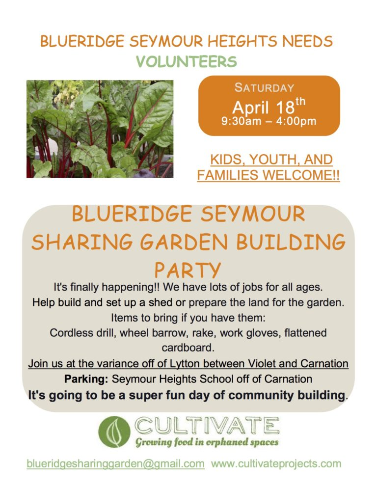 Sharing Garden – Work Party #1 a BIG success