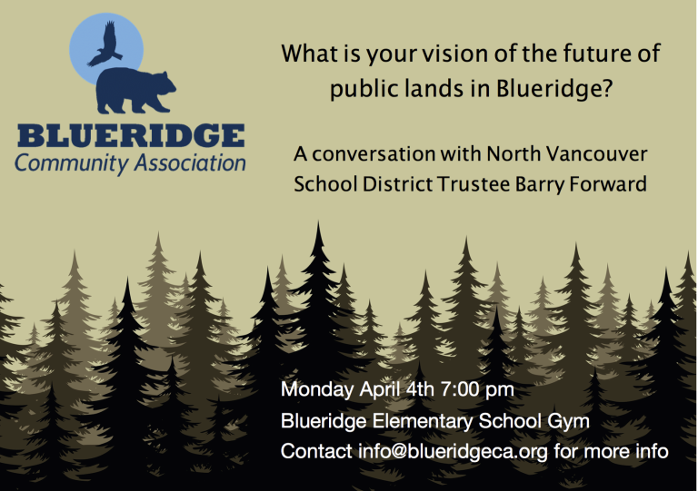 The Future of Public Lands in Blueridge: Let's Start the Conversation
