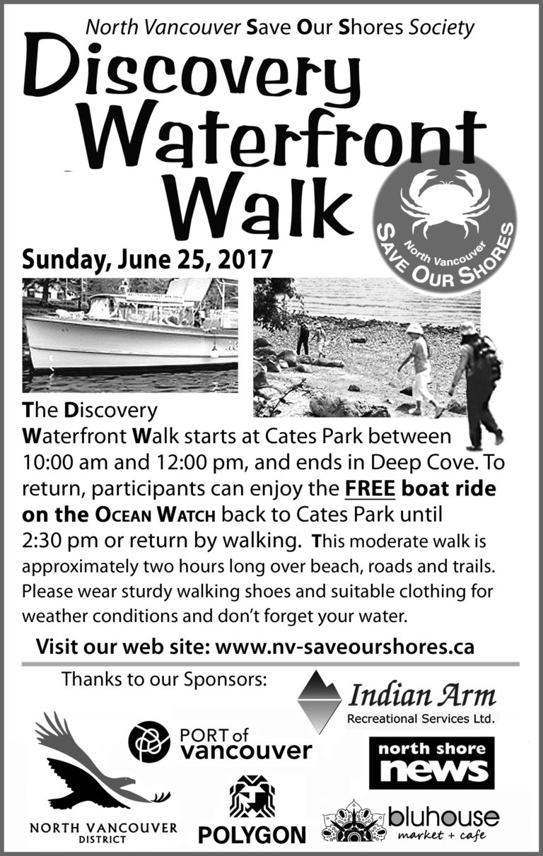 SOS Save Our Shores North Vancouver Waterfront Walk