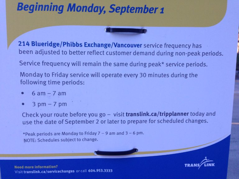 Are you affected by the 214 Bus schedule changes? Attend a meeting to voice your concerns.