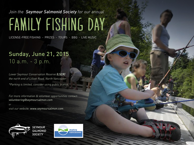 Family Fishing Day – June 21 Seymour Salmonid Society