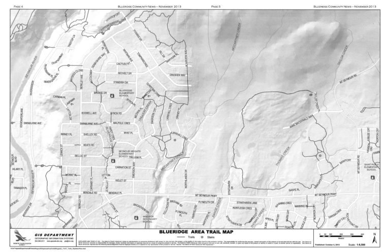 Blueridge Neighbourhood Trail Map