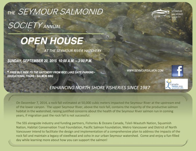 Seymour Salmonid Society – Open House September 20th