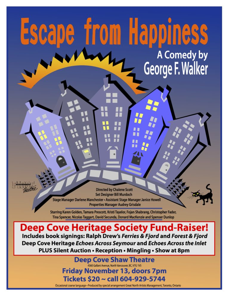 Deep Cove Heritage Foundation Annual Fundraiser Friday November 13th