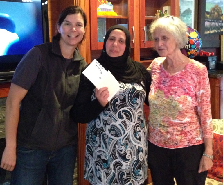 Syrian family receives cheque from Blueridge Community Association