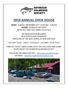 Seymour Salmonid Society 2018 Annual Open House